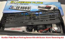Number Plate Frame Holder Mount Parking Sensor 3 Sensors Audio Buzzer Alarm E16